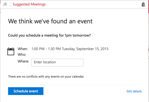 Suggested Meeting Add-in | Information Technology Services