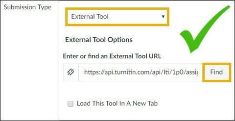 Turnitin LTI External Tool