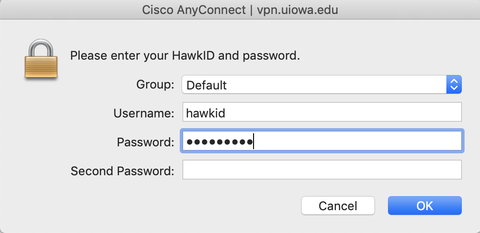 Screenshot with password field highlighted