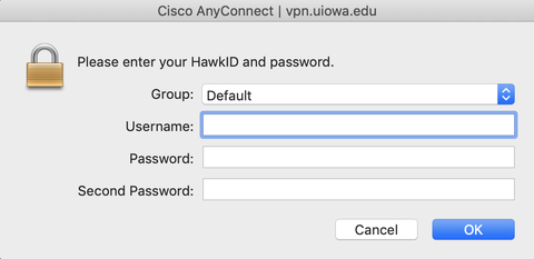 How do I log into the UI Anywhere VPN using Two-Step Login