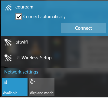 eduroam: check mark connect automatically