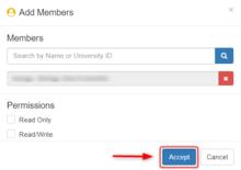 Add Members Accept