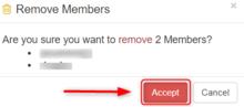 Member Remove Accept