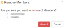Member Remove Confirmation