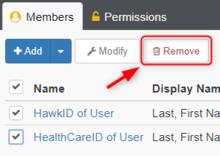 Members Remove