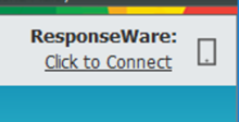 Where to click to Connect to ResponseWare