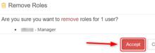 Roles Remove Accept