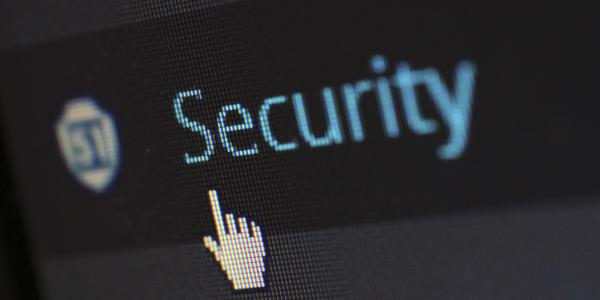 """Internet screen with the words """"security"""""""