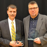Kirk Corey and Todd Weissenberger with Diversity Catalyst Awards