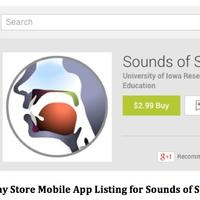 Google Play Sounds of Speech app
