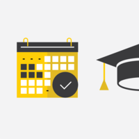Scheduler and Graduation Cap Icons