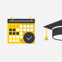 Scheduler and Graduation Cap Icons