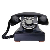 old-fashioned black telephone