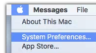 Apple Menu > System Preferences...