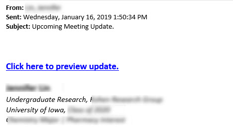upcoming meeting update