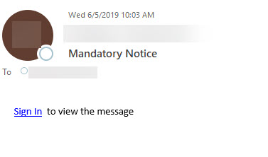 mandatory notice