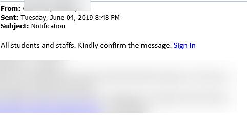 notification secure message login