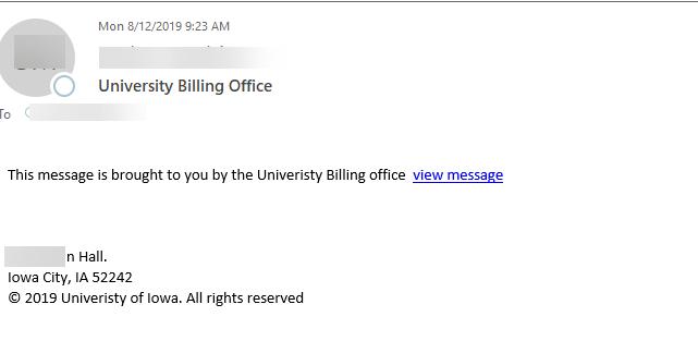 university billing