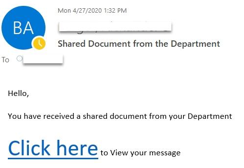 Shared Document Phishing