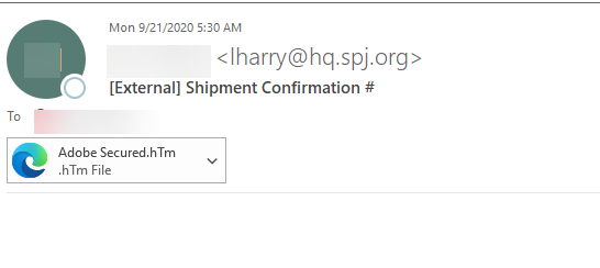 shipment confirmation number
