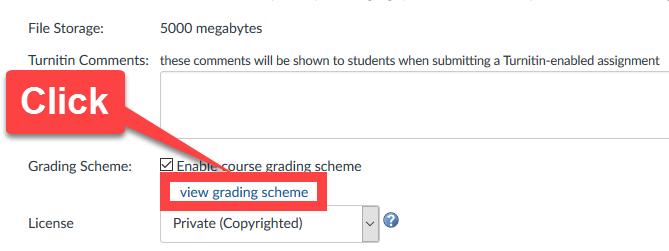 Change Grade Scheme