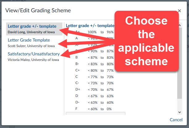 Change Grade Scheme 3