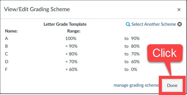 Change Grade Scheme 5
