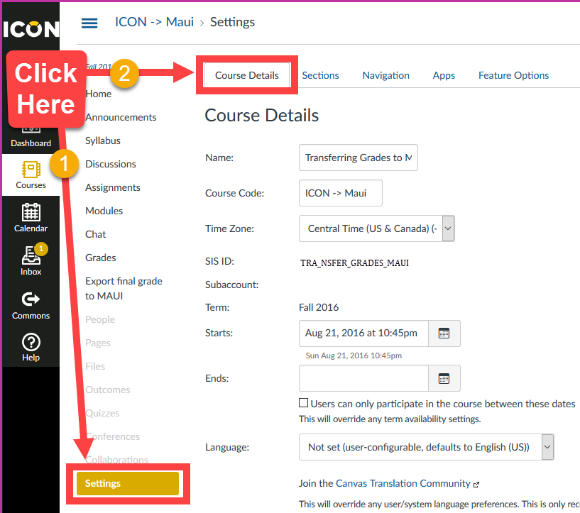 Enable Course Grading Scheme
