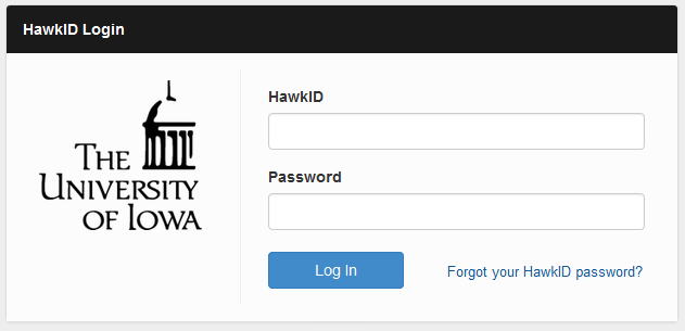 HawkID Login Window