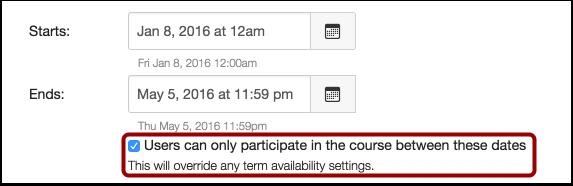 Limit Participation checkbox