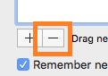 OS X click - button