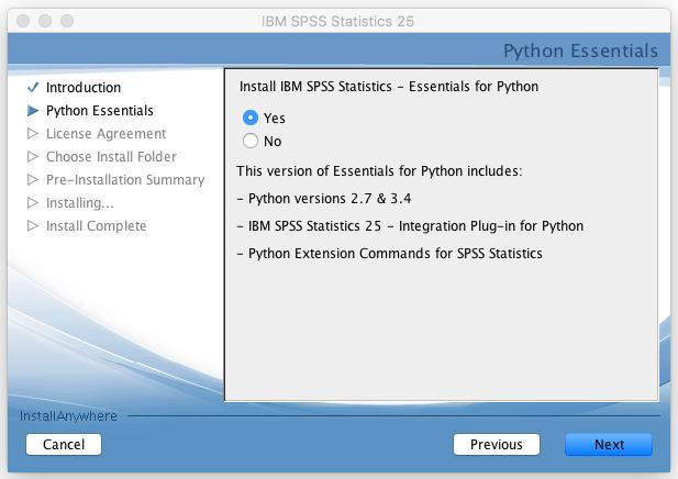 SPSS Single License Installation Instructions v25 Macintosh
