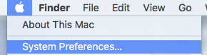 Apple Menu and System Preferences