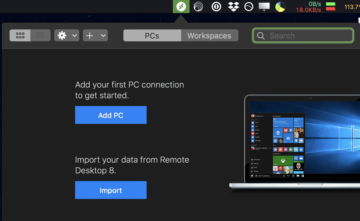 microsft remote desktop setup