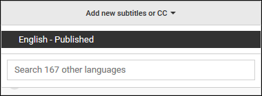 Highlighted - Select Language