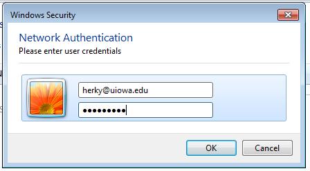 Network Authentication Dialog