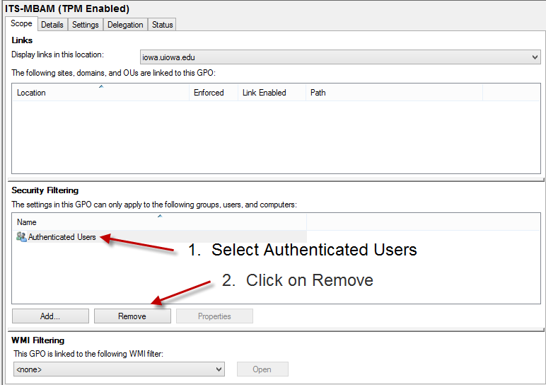 TPM Enabled - Remove Authenticated Users