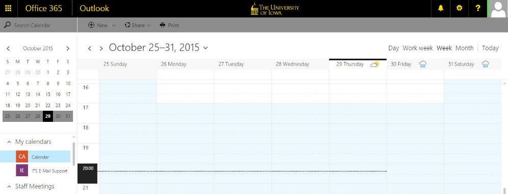 Click Calendar. Your Calendar Will Display.