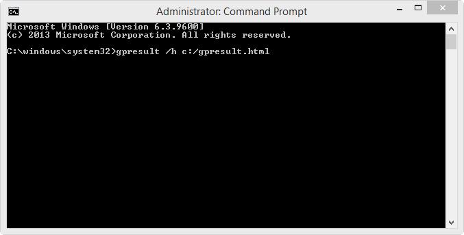 CMD - GPresult command