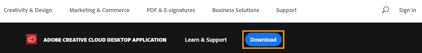 Adobe CC Desktop App Download from Web