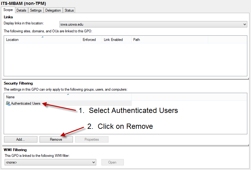 non-TPM - Remove Authenticated Users