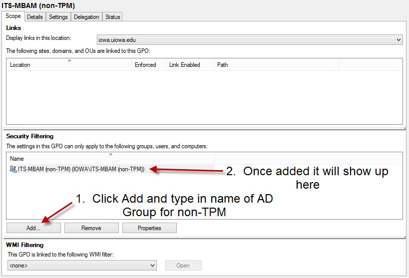 non-TPM - add Deptname-mbam non-tpm