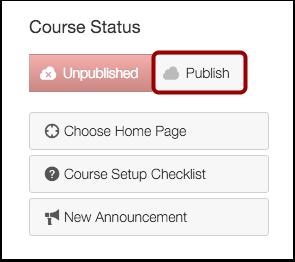 Publish Course button